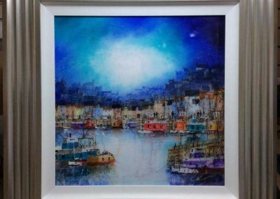 Abstract Quayside in Blue