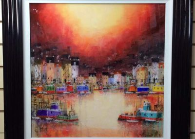 Abstract Harbour in Red