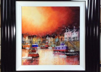 Abstract Quayside in Red