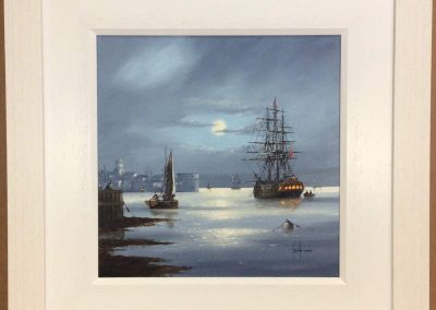 Moonlight at Portsmouth Harbour